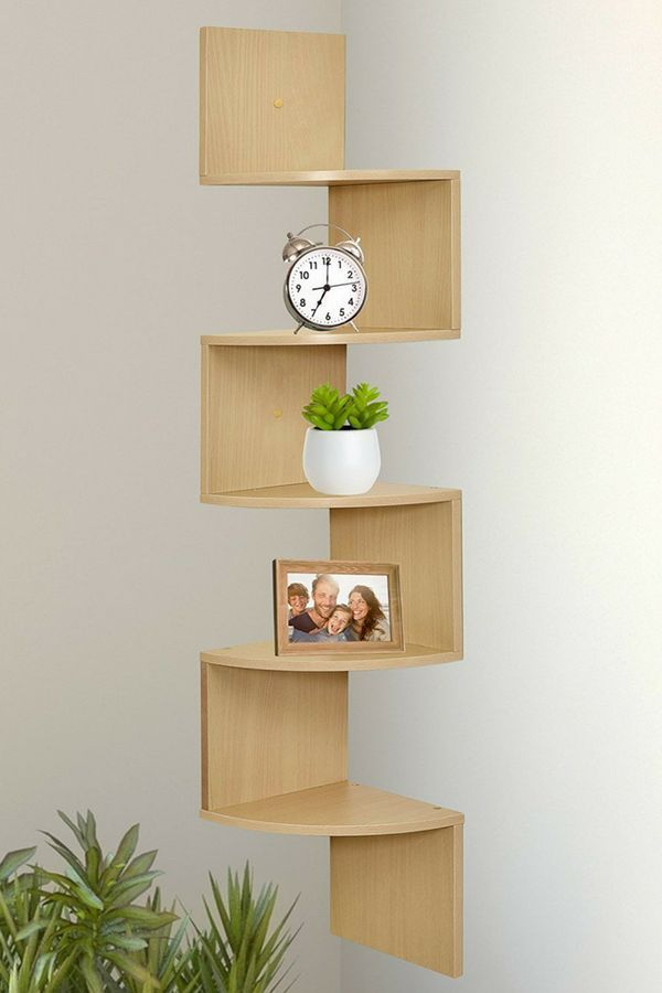Wall Mounted Corner Shelf Is The Perfect Space Saving Display Piece Use In Your Living Room Bedr Corner Decor Wall Mounted Corner Shelves Wall Shelves Design