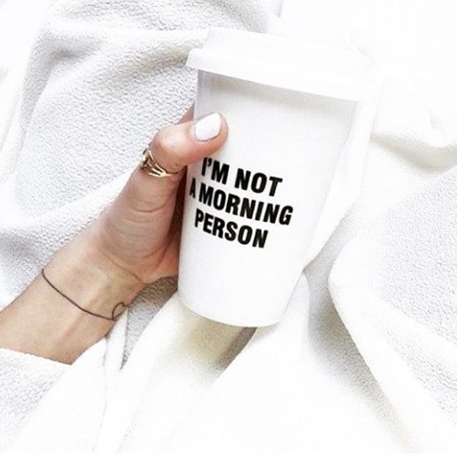 I'm not a moring person ---> Heureusement on est dimanche !! #sunday #morning #coffee