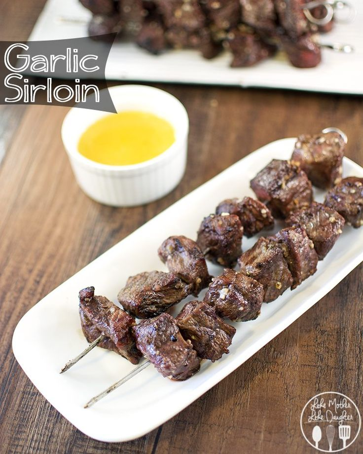 This delicious garlic sirloin is easy to make with a simple garlic butter marinade and then cooked up on the grill!