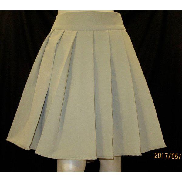 Khaki Pleated Skirt~School Uniform Skirt French Toast Pleated Skirt... ($20) ❤ liked on Polyvore featuring skirts, dark olive, women's clothing, long khaki skirt, long skirts, knee length pleated skirt, long wrap around skirt and wrap around skirt