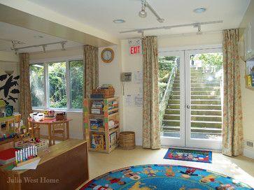 home daycare decorating ideas for basement | julia west home interior designers decorators