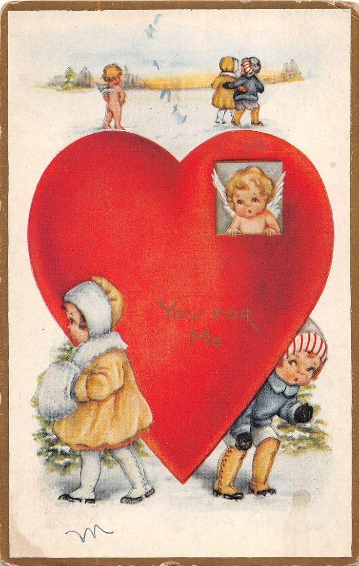 B20/ Valentine's Day Love Holiday Postcard c1910 St Charles Missouri Kids 15 | eBay