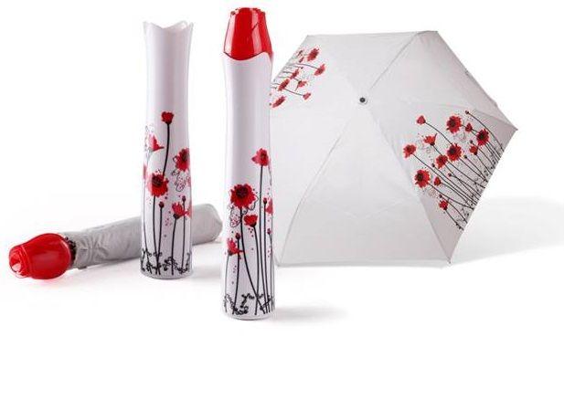 Rózsavirág alakú, szétnyitható esernyő, váza formájú védő tokkal.... 2990 Ft