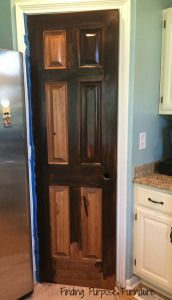 Pantry Door Redo: Staining Made Easy with Java Gel Stain - Finding Purpose Furniture