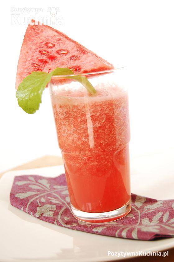#przepis na koktajl arbuzowo-imbirowy - prosty koktajl z arbuza i imbiru  http://pozytywnakuchnia.pl/koktajl-arbuzowo-imbirowy/  #kuchnia #arbuz #koktajl