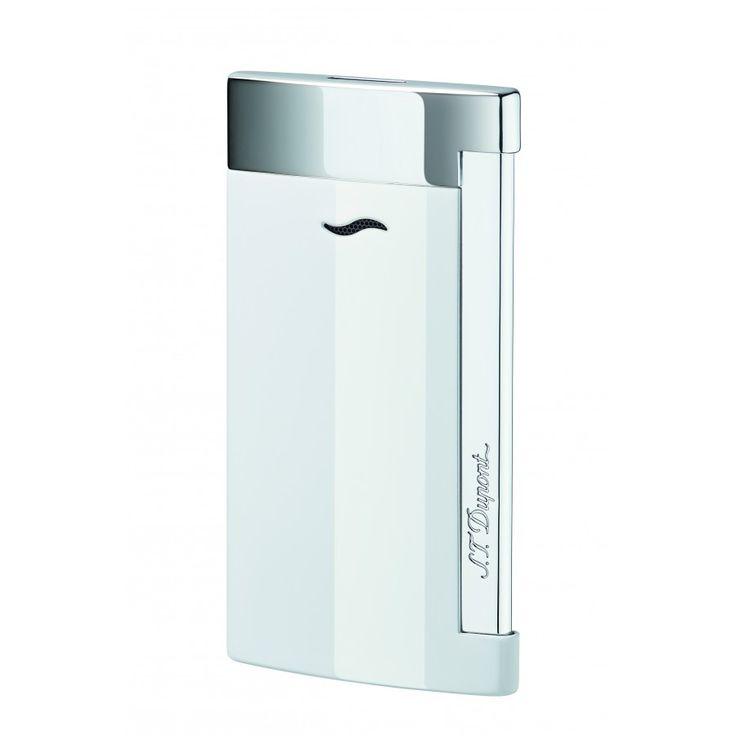 St Dupont Slim 7 Fiamma Rigida Bianco - Tabaccheria Corti Lecco - Online Shop