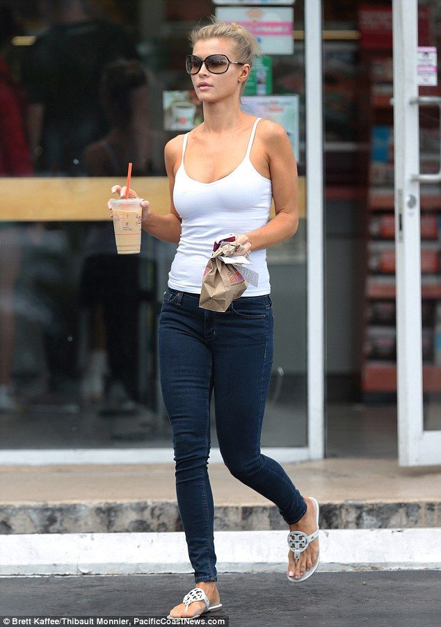 Natural beauty: Joanna Krupa dressed casually for a coffee run in Miami, Florida, on Saturday