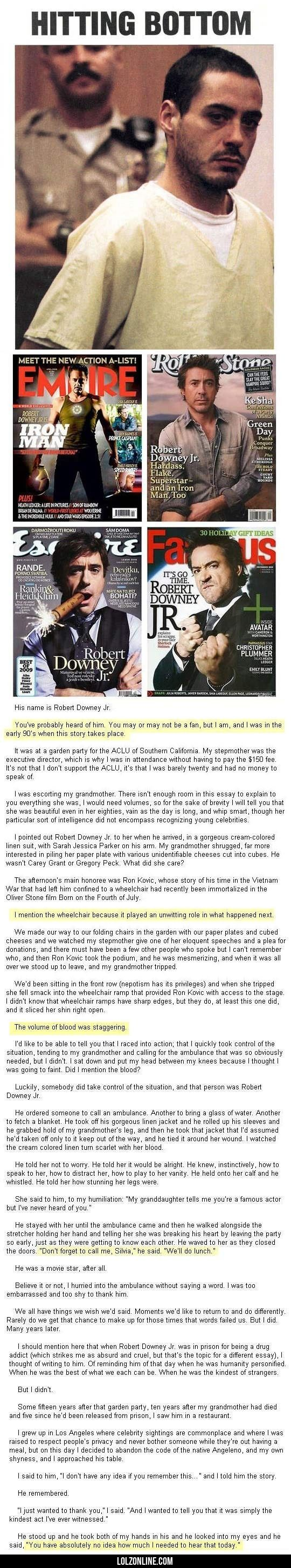 What Robert Downey Jr. Did When He Was At His Worst #lol #haha #funny