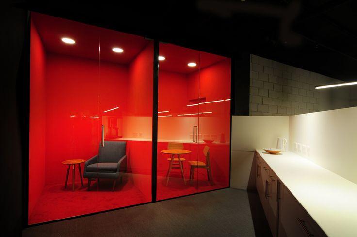 MadeCom HQ by Bureau de Change architects / Phone booths