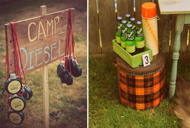 Backyard Camping Party Ideas! on http://pizzazzerie.com