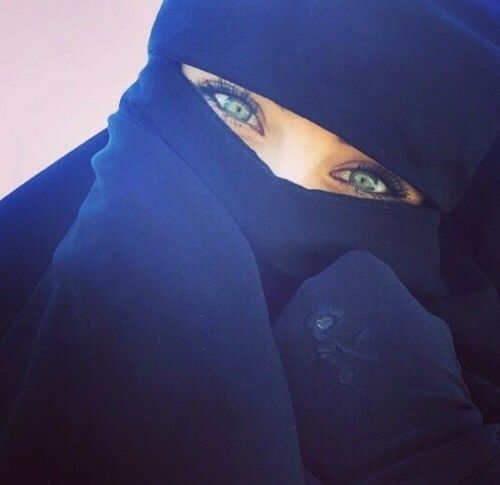 islam, niqab, and eyes image