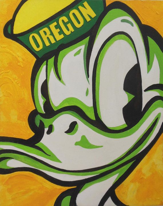 Oregon Ducks - unique and cool piece of original art