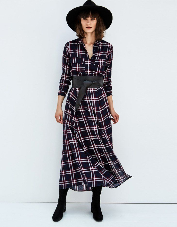 At Stradivarius you'll find 1 Long checked shirt for just 5994 Japan . Visit now to discover this and more Dresses.