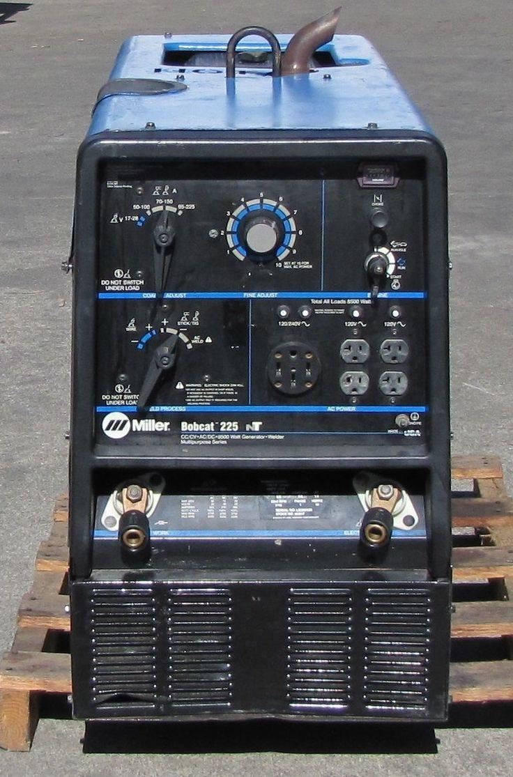Miller Bobcat 225NT CC/CV Welder 8KW Generator 240/120V 20hp Kohler Engine