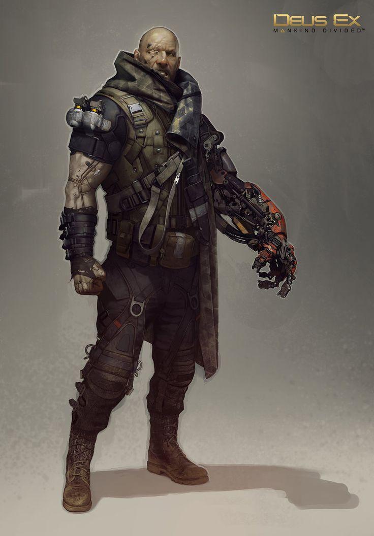 Concept art done for Deus Ex: Mankind Divided. Coat design by Acronym.   Eidos Montréal © 2015
