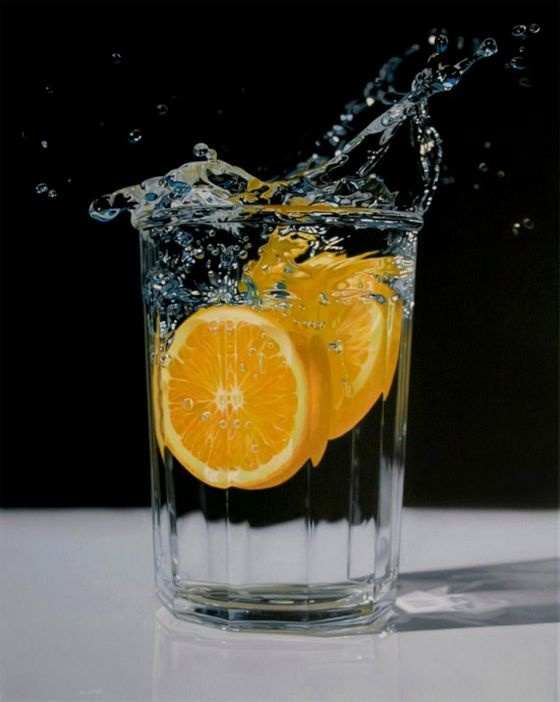 Can you believe these images are actually paintings? These are the works of several hyper-realist painters like Roberto Bernardi, Eric Christensen and Steve Mills. I still can't believe my eyes!