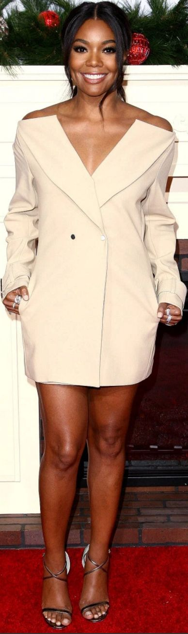Gabrielle Union in Dress – Dion Lee  Earrings – Hearts on Fire  Shoes – Jimmy Choo