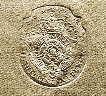 C'est au parlement de Londres que la loi sur le timbre a été adoptée en 1765. Il s'agit d'un impôt, obligeant l'apposition d'un timbre sur tous les documents officiels, afin de centraliser les pouvoirs des colonies. En raison de cette loi, il y avait une omniprésence du Roi dans la vie des colons, créant un important mécontentement. Il y eut donc une résistance des colons et grâce aux efforts fournis par les colonies, la loi fut abolie en 1766.