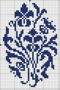 Irises - Chart for cross stitch or filet crochet.
