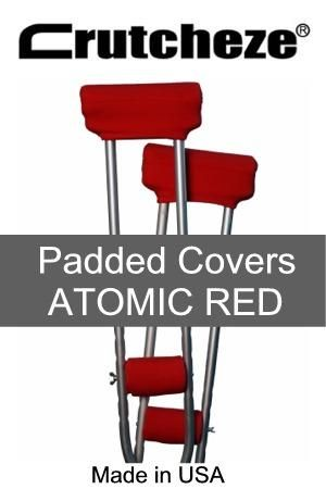 CRUTCH PADDED COVERS - ATOMIC RED
