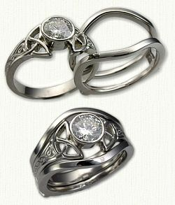 Celtic Knot Ring. Perfect since I want to incorporate ancient Irish/Celtic traditions into my wedding ceremony.
