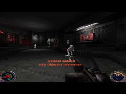 Star Wars - Jedi Knight II: Jedi Outcast Walkthrough - Kejim Outpost 1/2 - YouTube