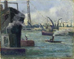 Luce, Maximilien : Dans le port de Rouen
