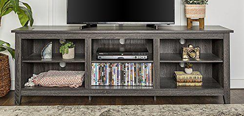 We Furniture 70 Wood Media Tv Stand Storage Console Ch Https Www Amazon Com Dp B071nhh5hd Ref Cm Sw Tv Stand With Storage Furniture Driftwood Furniture