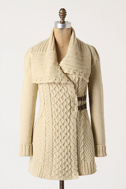 Blanched & Buckled Cardigan >>Cozy and pretty!