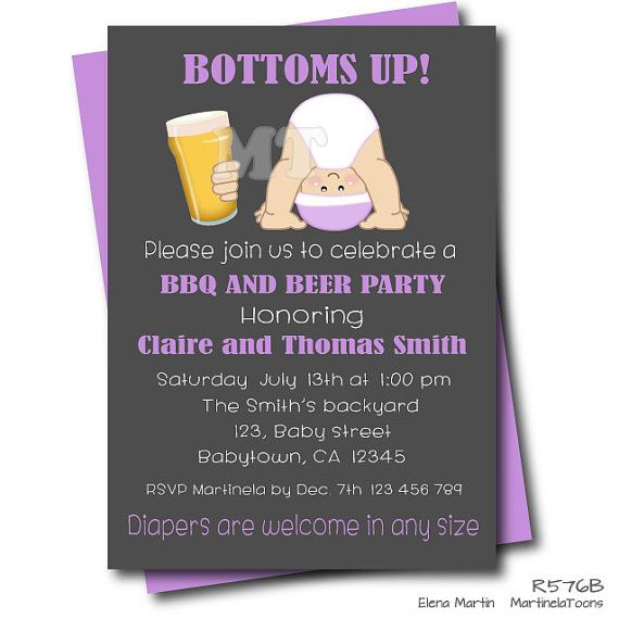 Beer And Babies Dad Baby Shower Invitation  Couples Baby Shower Diaper  Partyu2026