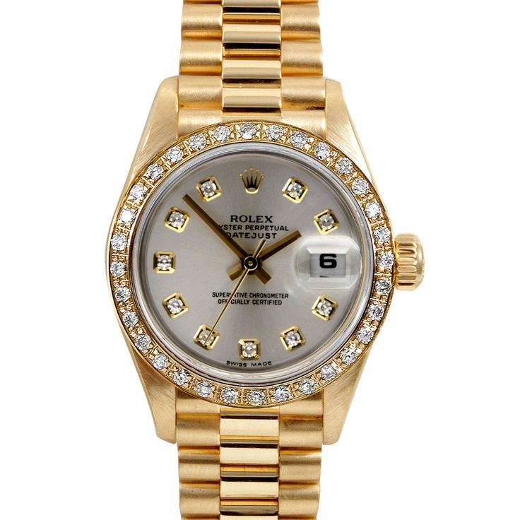 Rolex Ladies' Datejust Presidential Diamond Watch in Silver - Beyond the  Rack