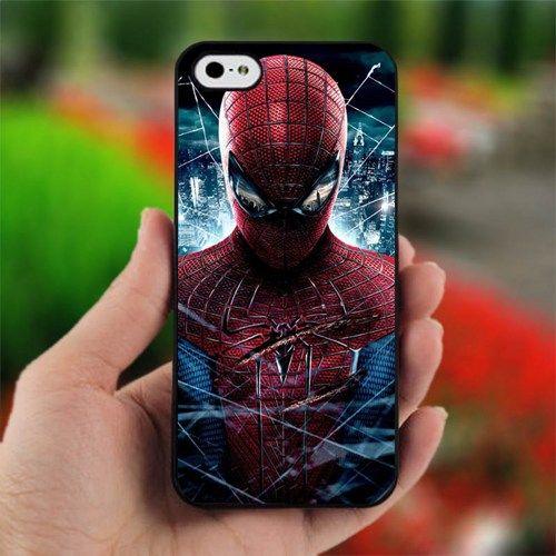 The Amazing Spiderman Mask Logo - Design for iPhone 4/4S Black Case   printcustom - Accessories on ArtFire