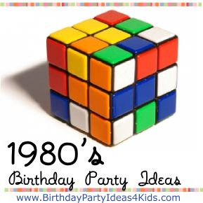 1980's Birthday Party Ideas / 1980's themed games, activities, decoration ideas, party food and more! http://www.birthdaypartyideas4kids.com/1980-party.htm