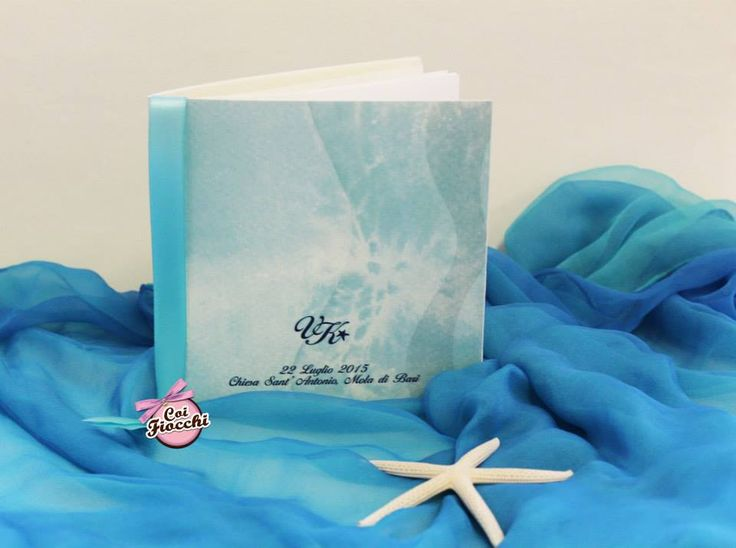 Libretto messa per il matrimonio a tema mare dei nostri sposi Vitangelo&Ketty
