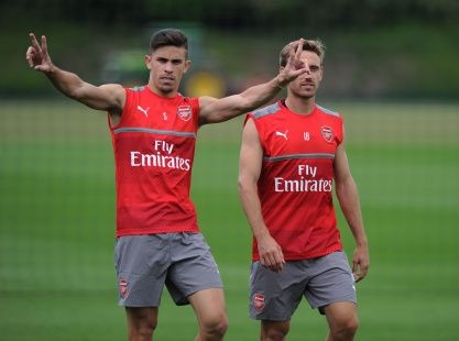 Gabriel Paulista and Nacho Monreal attend pre-season training ahead of the 2016/17. @TheArsenal #AFC #Gooners #Gunners