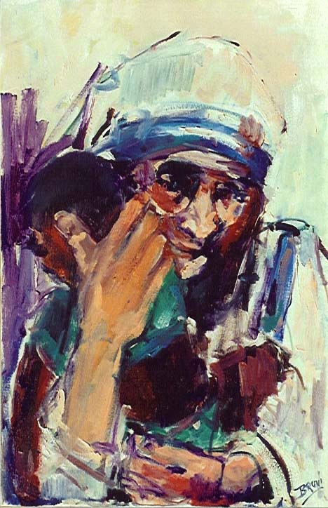 Mother Teresa, most inspiring woman of all time. (for me at least!). really want this painting one day.