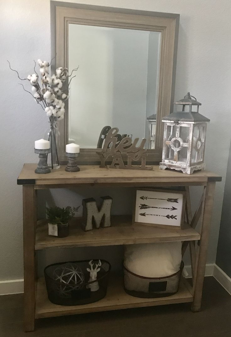 new modern farmhouse entry way console table decor home stuffs pinterest entr es entr e. Black Bedroom Furniture Sets. Home Design Ideas