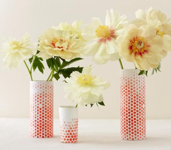 Learn how to make these unique and super-simple dotted vases.