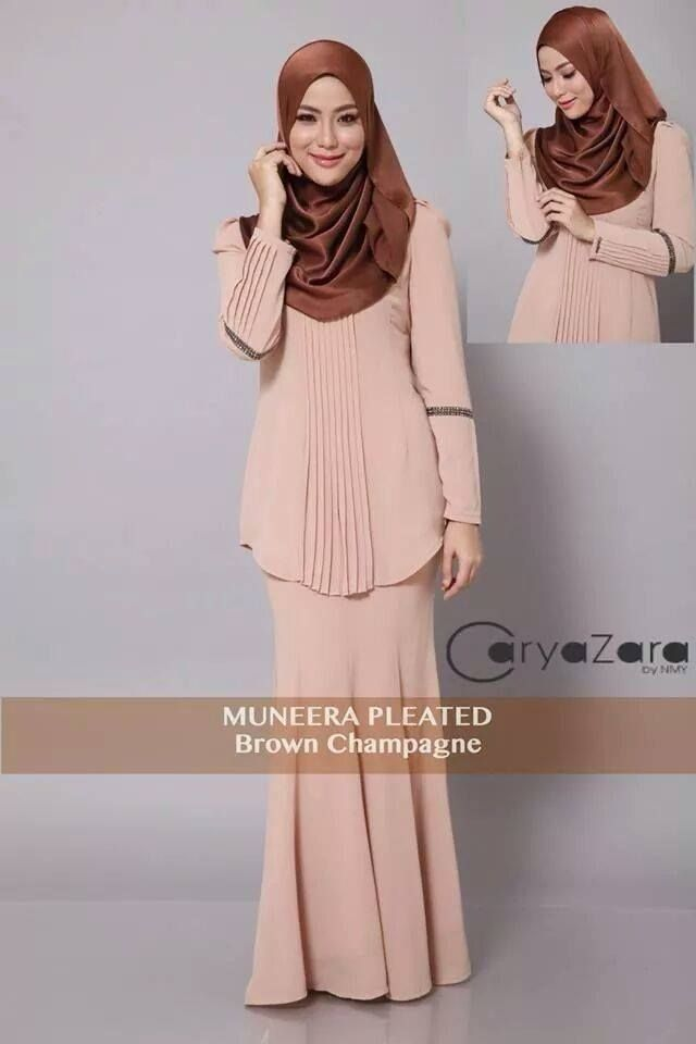 pleated kurung