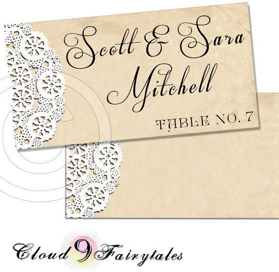 Place Cards Escort Cards wedding diy printable by Cloud9Fairytales, $10.00