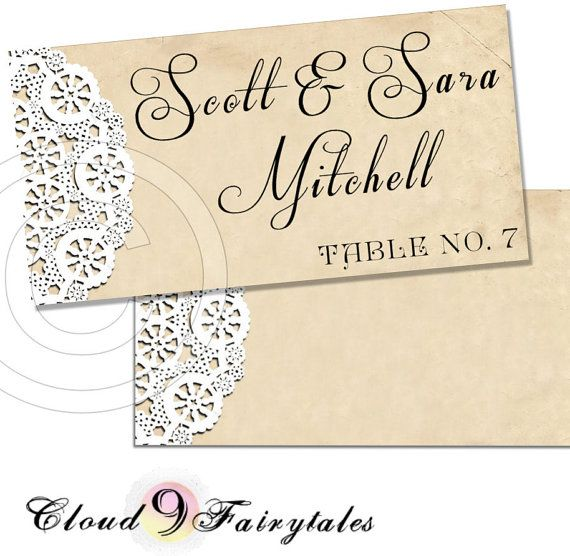 Place Cards Escort Cards wedding diy printable by Cloud9Fairytales, $10.00