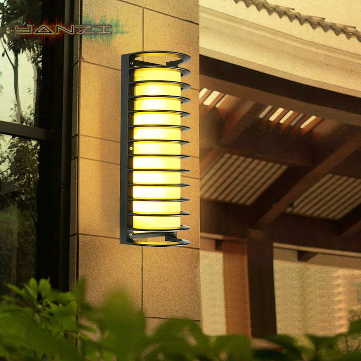 Find More Wall Lamps Information about Indoor Sconce Lighting Outdoor Wall Lamp Outdoor Waterproof Front Door Light Garden Light Minimalist Modern Glass Balconies Lamp,High Quality Wall Lamps from LED Lighting Empire Store on Aliexpress.com