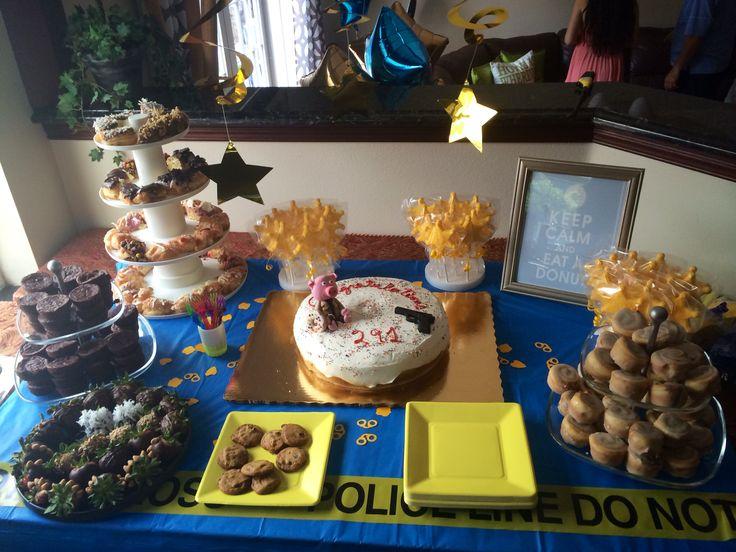 Police Academy Graduation Dessert Table Party Stuff
