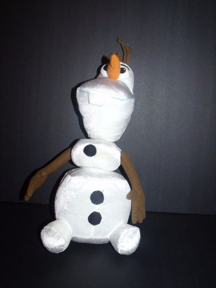 "Just Play Disney Frozen Pull Apart Talking Olaf Snowman Plush Toy 14"" #JustPlay"