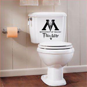 Mr Wheel Trims - Decalcomania da bagno, motivo con scritta: Ministry of Magic, 1 adesivo, 25 cm, colore: nero