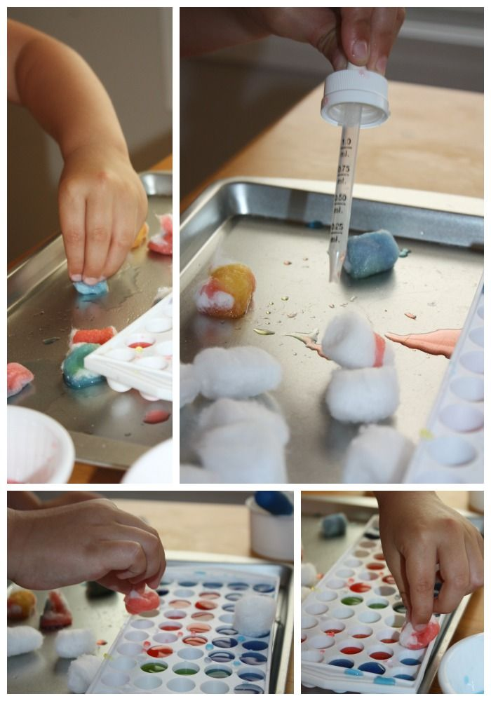 eye dropper fine motor activities experimenting with cotton balls