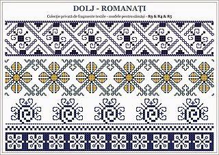 Romanian traditional motifs - OLTENIA; Dolj-Romanati (Semne Cusute)
