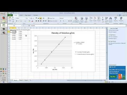 Calibration Curve with Excel - YouTube
