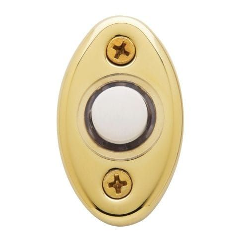Baldwin 4852 2 Inch x 1-1/8 Inch Solid Brass Oval Door Bell with Illuminated Button (Venetian Bronze)