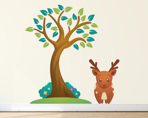 Nursery Wall Decal  Woodland Nursery Decor  by LullaberryDecals